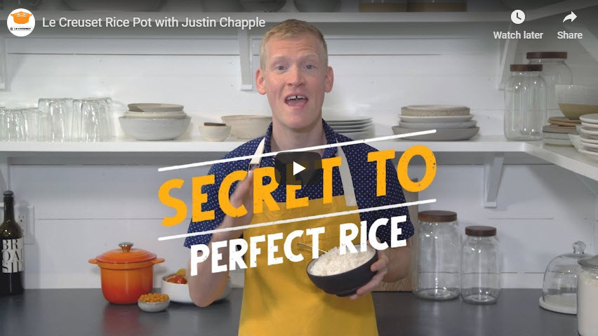 Video: Le Creuset Rice Pot with Justin Chapple